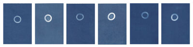 Sarah Irvin, 'Cyanotype Archive: Small Flat Glass Marbles', 2020