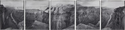 Mark Klett, 'Around Toroweap Point, just before and after sundown, beginning and ending with views used by J.K. Hillers over 100 years ago, Grand Canyon', 1986