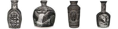 Alex Hodge, 'Set of four Hand Built and Carved Porcelain Vases', 2019