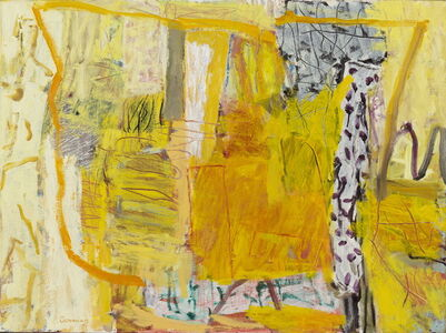 Elisabeth Cummings, 'Yellow interior', 2018