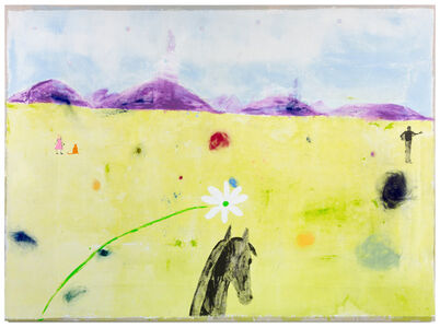 Jenny Watson, 'The world looks so much better through a horse's ears', 2018