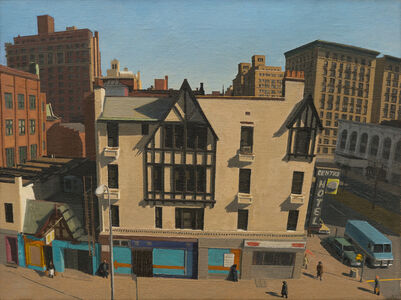 Rackstraw Downes, 'The Centre Hotel', 1976