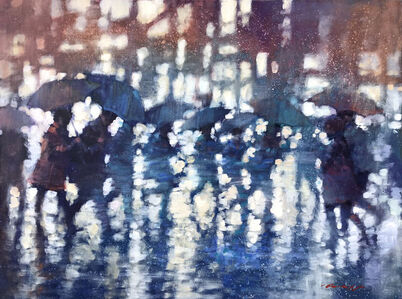 David Hinchliffe, 'Heading Home on a Rainy Night', 2019