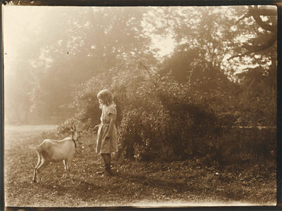 Léonard Misonne, 'Girl and Goat', 1920s