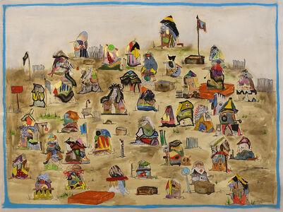 Nyugen E. Smith, 'Bundlehouse Landscape (Four Flags)', 2018