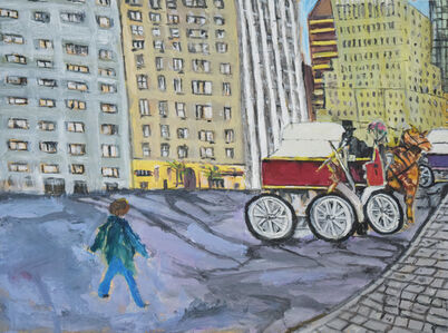 Lewis Pujol, 'Fifth Ave Horse and Buggy Scene', 2018