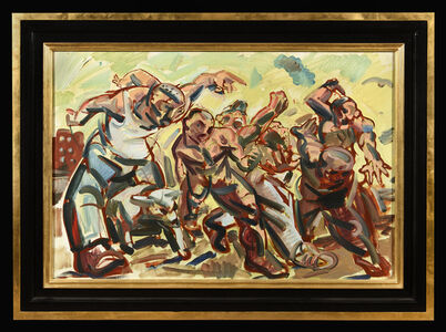 Peter Howson, 'Timeless March (Study)', ca. 1992