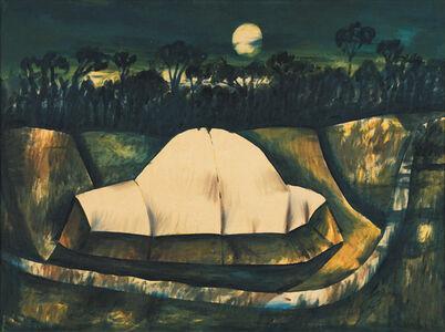Charles Blackman, 'Haystacks in moonlight', 1954-1955