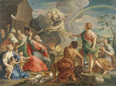 Girolamo Pesci, 'The First Sacrifice after the Flood', ca. 1735