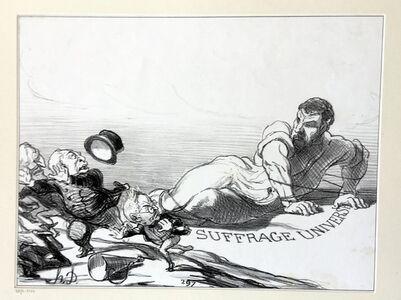 Honoré Daumier, 'Panic of the Lilliputians', 1851