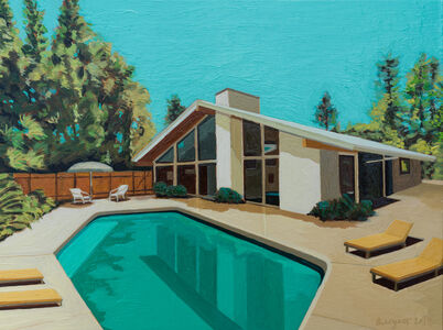 Andy Burgess, 'Ranch House with Yellow Sun Chairs', 2019