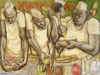 Pat Oliphant, 'Kwik Meal', 2009