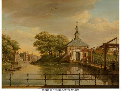Paulus Constantjin La Fargúe, 'View of the Zijlpoort, Leiden; View of the Witte Poort, Leiden, 1773 (a pair)'