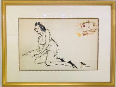 Norman Rockwell, 'Untitled Study (Reclining Female & Portrait Study)', Circa 1950