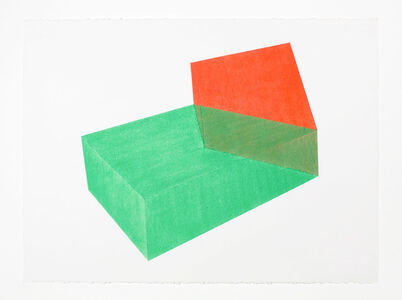Brant Ritter, 'Accidental Happiness, Green + Coral', 2017