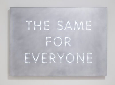 Nathan Coley, 'The Same For Everyone', 2017