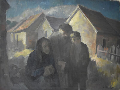 Jacob Steinhardt, ' Jewish Family | Wintery Swiss Town', 1920