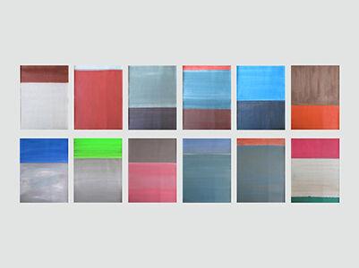 Daniel Göttin, 'Untitled 1-12 2017 (Abstract painting)', 2017