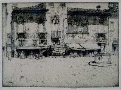 Ernest David Roth, 'Campo San Margarita, Venice', 1913