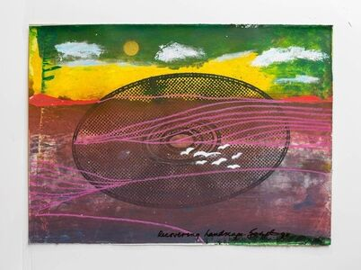 "Iain Baxter&, 'Iain Baxter ""Recovering Landscape"" Conceptual Monoprint Painting', 20th Century"