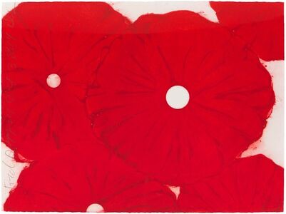 Donald Sultan, 'Red Poppies Oct 3 2014', 2014