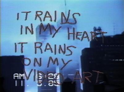 Shigeko Kubota, 'SoHo/SoAP Rain Damage', 1985