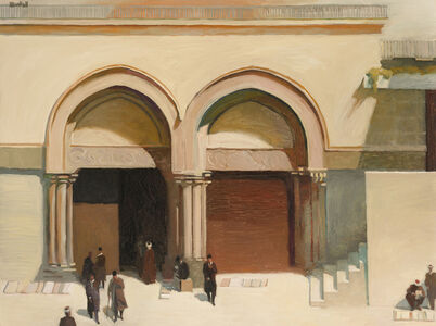 Richard Bunkall, 'Figures outside a mosque'
