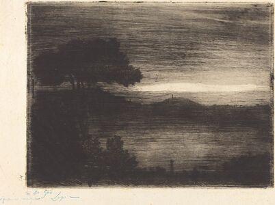 Vicomte Ludovic Napoléon Lepic, 'Lake Nemi', 1870