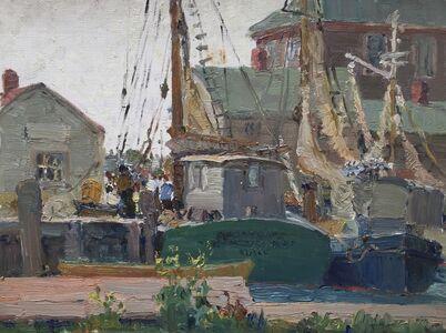 Houghton Cranford Smith, 'Gloucester Wharf', 1925