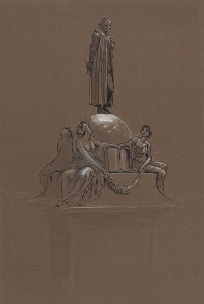 Walter Crane, 'Design for a Shakespeare Memorial'