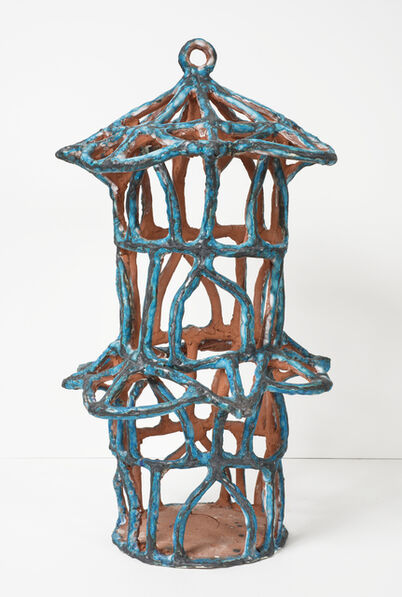 Elisabeth Kley, 'Turquoise Birdcage with Roof Semicircles', 2015