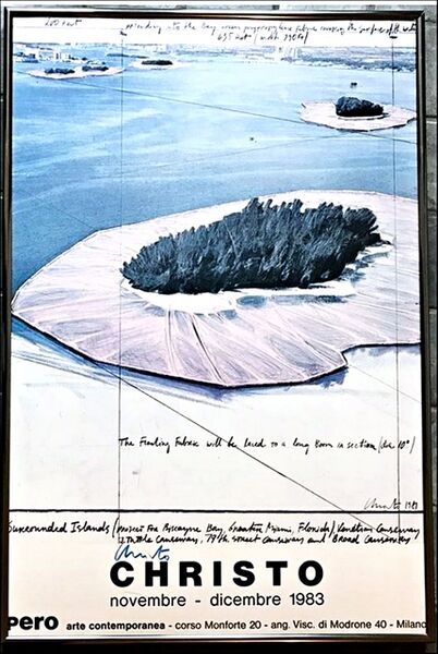 Christo, 'Surrounded Islands, Pero Arte Contemporanea, Milano (Signed) gifted by Christo to his son's high school teacher', 1983