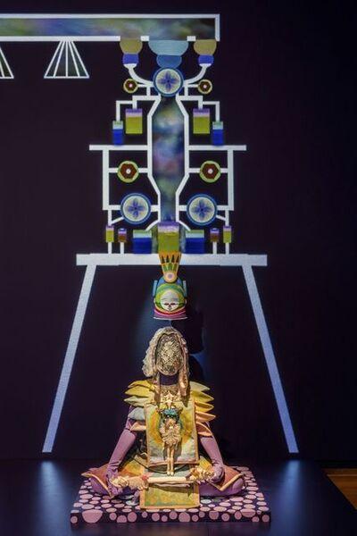 Saya Woolfalk, 'Installation view of ChimaTEK: Virtual Chimeric Space (detail) ', 2015