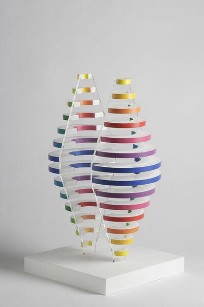 Martha Boto, '2 Demi cones avec anneaux de couleurs', 1975