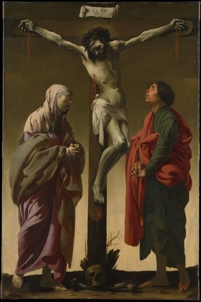 Hendrick ter Brugghen, 'The Crucifixion with the Virgin and Saint John', ca. 1624–1625