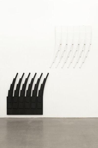 Karl Heinz Adler, '6 weiße und 6 schwarze Quadrate, zerstört und neu formiert', 2007
