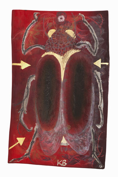 Kerstin Brätsch, 'Scarabaeus sacer_red, from Already Maid Betwixt and Between Series', 2013