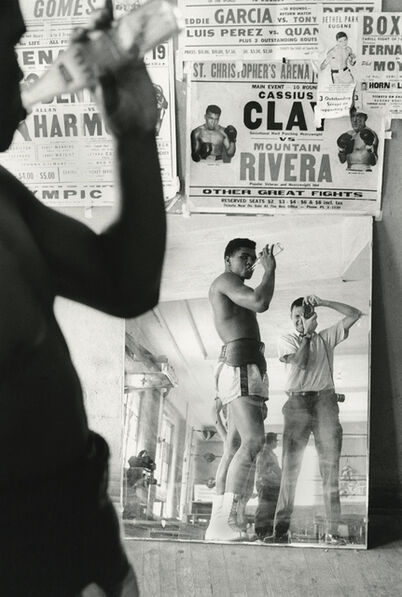 Marvin E. Newman, 'Cassius Clay (Muhammad Ali) and Marvin Newman, 5th Street Gym, Miami', 1963