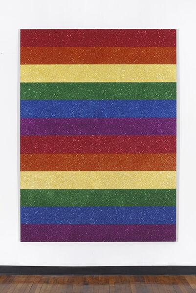 Jonathan Horowitz, 'Double Rainbow Flag for Jasper in the Style of the Artist's Boyfriend', 2013