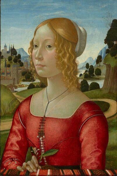 Domenico Ghirlandaio, 'Portrait of a Lady', ca. 1490