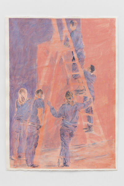 Bruno Pacheco, 'Blue over Red (Ladder, Removal)', 2017