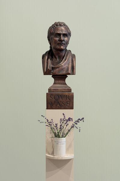 Ian Hamilton Finlay, 'ROUSSEAU (Sour Vase) / A Wild Flower is Ideological, Like a Badge', 1991-93