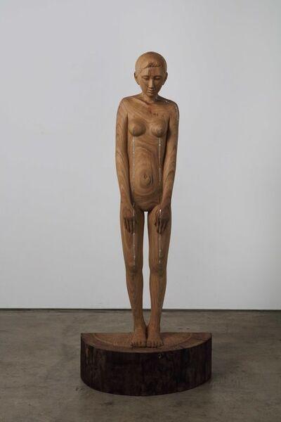 Tanada Koji, 'woman with straight line', 2019