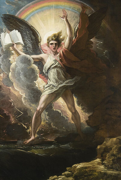 Benjamin West, 'A Mighty Angel Standeth upon the Land and Upon the Sea', 1797