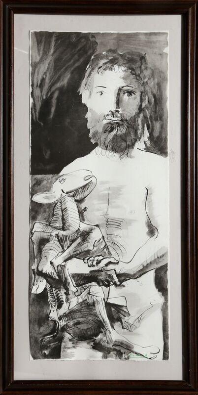 """Pablo Picasso, 'Etude pour l'Homme au Mouton from the portfolio """"La Flute Double"""" ', 1967, Print, Lithograph, RoGallery"""
