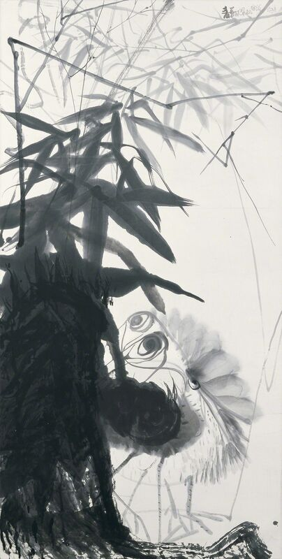 Chao Chung-hsiang 趙春翔, 'Under Bamboo Cover', 1980, Drawing, Collage or other Work on Paper, Chinese ink & acrylic on paper, Alisan Fine Arts