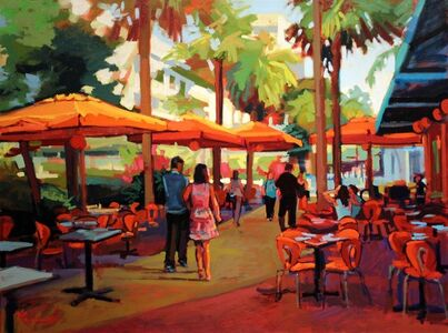 Nick Paciorek, 'Lincoln Road Lunch'