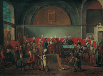 Jean Baptiste Vanmour, 'Dinner at the Palace in Honour of an Ambassador', 1700-1750