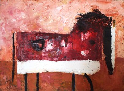 Valentina DuBasky, 'Spotted Horse in Claret Field', 2016