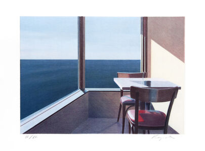 John Register, 'Restaurant Overlooking the Pacific', 1990